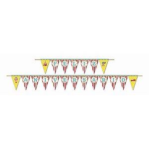Faixa Feliz Aniversário - Circo Menino c/ 1 unidade