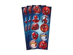 Adesivo Decorativo Redondo - Homem Aranha c/ 30 unidades