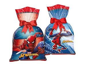 Sacola Plástica - Homem Aranha c/ 8 unidades