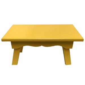 Banqueta de MDF Retangular Grande Amarelo