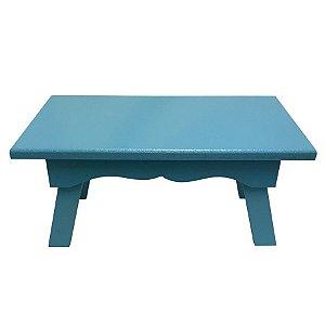 Banqueta de MDF Retangular Grande Azul Tiffany