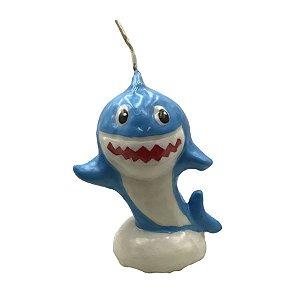 Vela 3D Baby Shark Azul