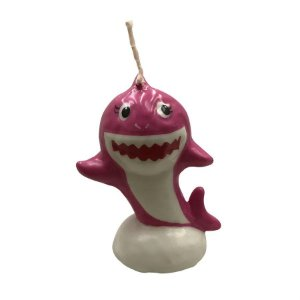 Vela 3D Tubarão Rosa