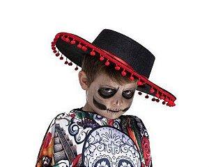 Chapéu Mexicano de Mariachi Halloween