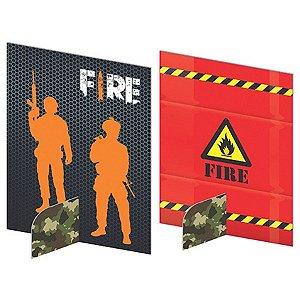 Enfeites de Mesa - Free Fire c/ 5 unidades