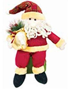 Enfeite Papai Noel Tecido Sentado - Natal c/ 1 unidade