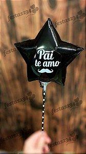 Balão metalizado estrela - Dia dos Pais