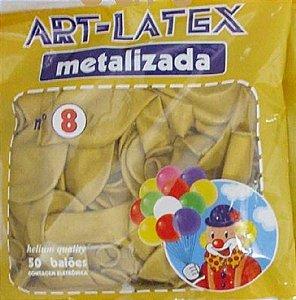 BALÃO LATEX 8 METALIZADO