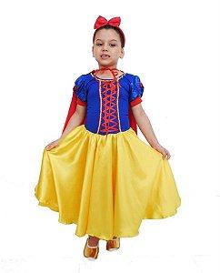 Fantasia Princesa Branca de Neve Infantil