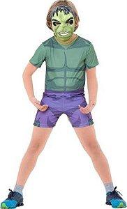 Fantasia Curta Hulk Infantil