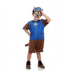 Fantasia Chase Patrulha Canina Curto Infantil