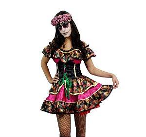 Fantasia Caveira Mexicana Halloween