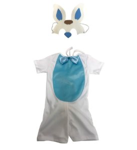 Fantasia Coelhinho Azul Infantil Páscoa
