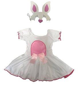 Fantasia Coelhinha Rosa Infantil Páscoa
