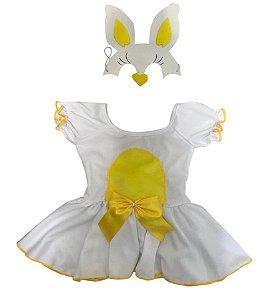 Fantasia Coelhinha Amarelo Infantil Páscoa