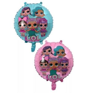 Balão Metalizado 18P Boneca LOL