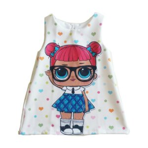 Fantasia Vestido Infantil Boneca LOL Teacher's Pet