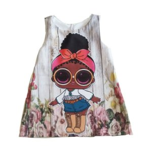 Fantasia Vestido Infantil Boneca LOL Foxt
