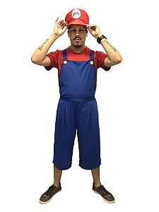 Fantasia Super Mario Pop Masculina Adulto
