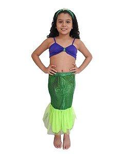 Fantasia Sereia Infantil Carnaval