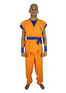 Fantasia Goku Dragon Ball Masculina Adulto