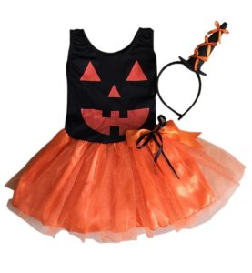Fantasia Abóbora Infantil Halloween