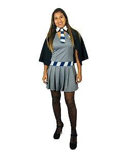 Fantasia Vestido Hermione Corvinal Adulto Halloween