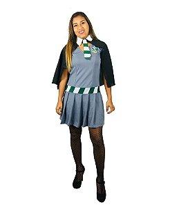 Fantasia Vestido Hermione Sonserina Adulto Halloween