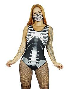 Fantasia Body Esqueleto Halloween