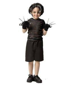 Fantasia Mãos de Tesoura Curta Infantil Halloween