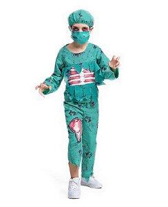 Fantasia Cirurgião Zumbi Infantil Halloween