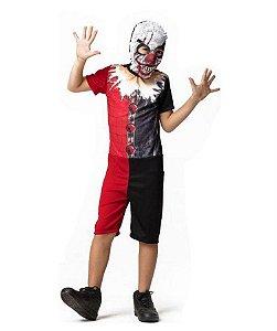 Fantasia Arlequim Curta Infantil Halloween