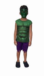 Fantasia Hulk infantil curta