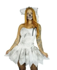 Fantasia Noiva Cadaver Adulto Halloween