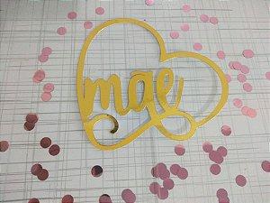 Topo de bolo Dourado - Dia das Mães