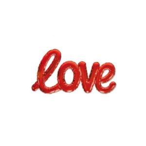 Balão Metalizado Love Vermelho