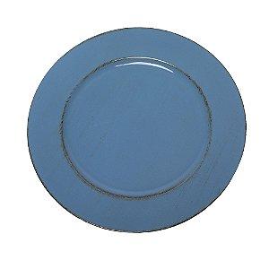 Sousplat Pincelado Azul