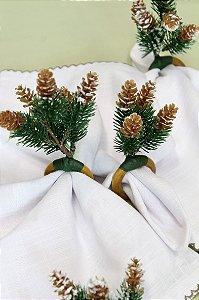 Gift Set Porta-Guardanapos Pinhas com Flocos