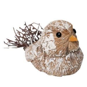 Pássaro Rústico Natalino com Galhos