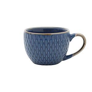 Set Xícara Café Drops Azul