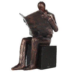 Escultura Homem Intelectual