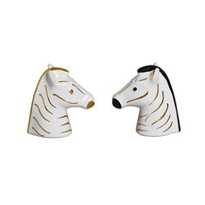Conjunto de Saleiro e Pimenteiro Zebra