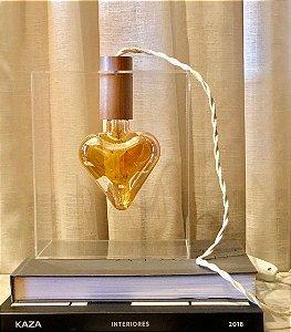 Luminária Coração Apertado (fio barbante)