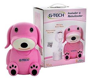 Inalador/Nebulizador G-tech DOG Rosa 110v/220v