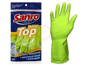 Luva látex forrada TOP verde - Sanro