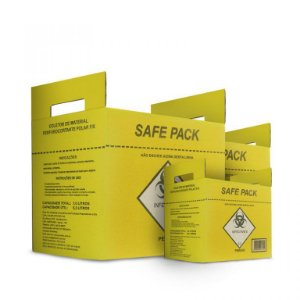 Caixa para material perfurocortante 3 lts - Safe Pack Polarfix