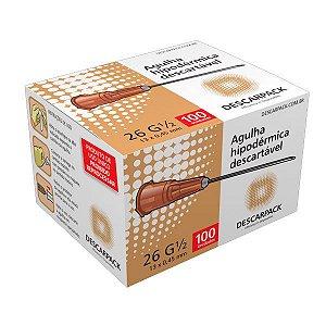 Agulha descartável 13X4,5  cx c/ 100 und - Descarpack