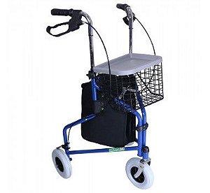 Andador com freio e cesto - Dilepé