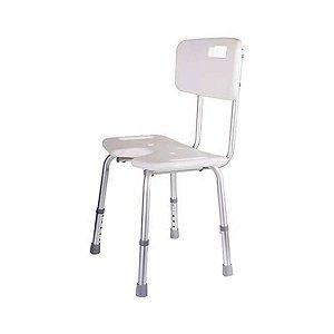 Cadeira para banho até 150 kg com encosto e abertura frontal - Astra