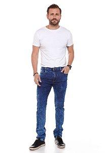 Calça Skinny Marmorizado azul